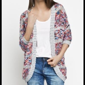 Anthropologie Noisy May Confetti Banded Cardigan